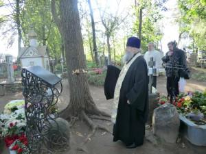 Панихида на могиле старца Николая Гурьянова